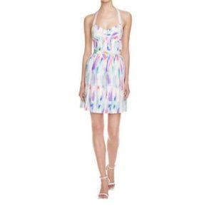 Amanda Uprichard Karlie Print Silk Dress